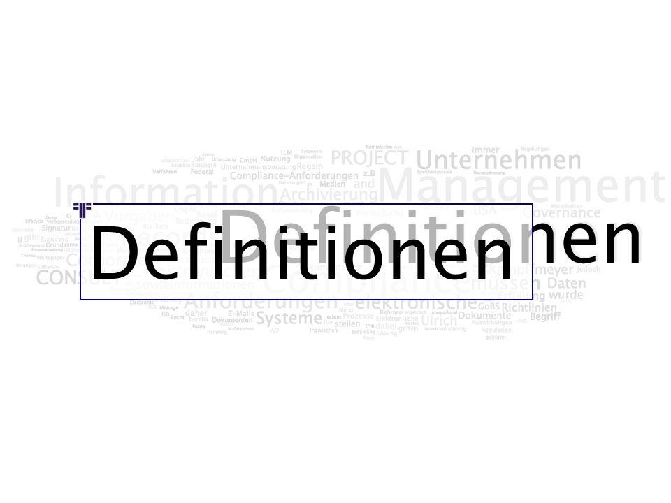 Definitionen Definitionen