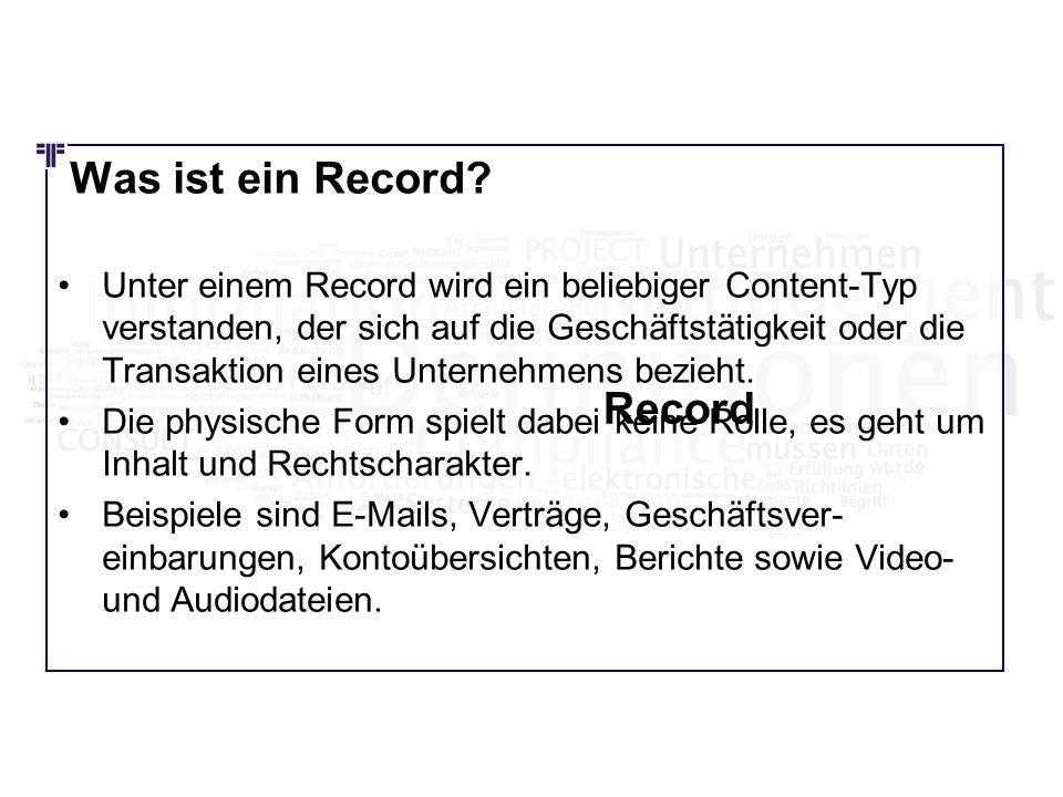 Was ist ein Record Record