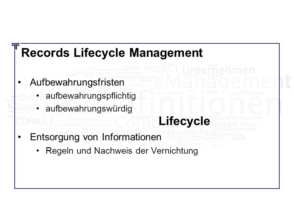 Records Lifecycle Management