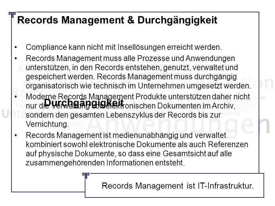 Records Management & Durchgängigkeit