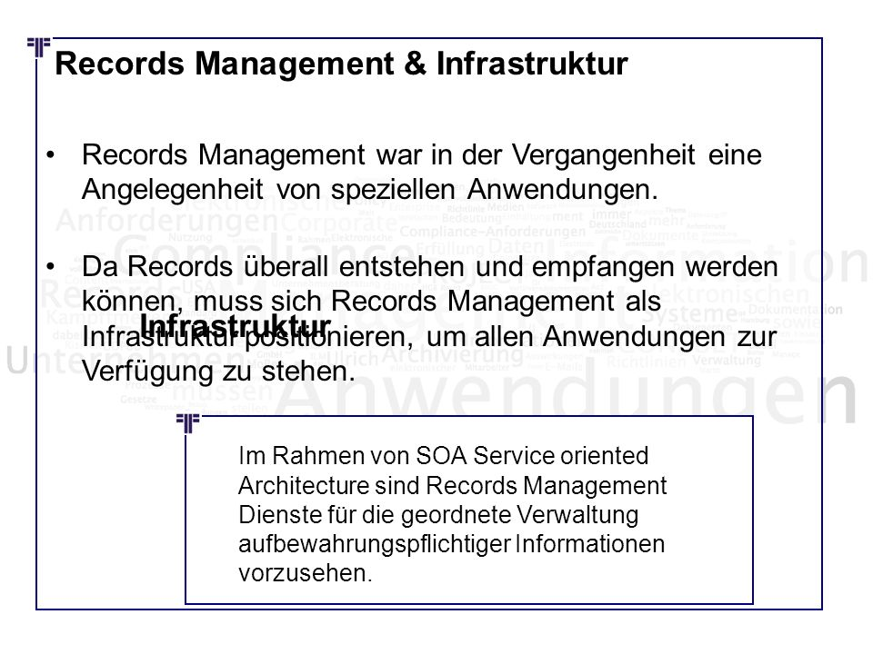 Records Management & Infrastruktur