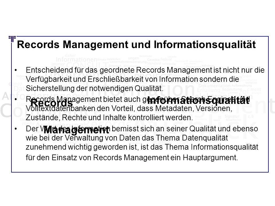 Informationsqualität Records