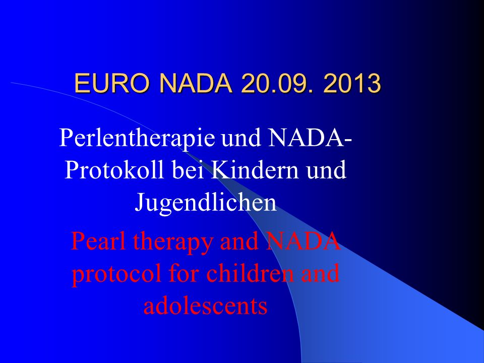 Perlentherapie und NADA-Protokoll bei Kindern und Jugendlichen