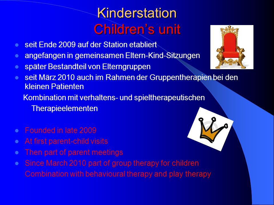 Kinderstation Children's unit