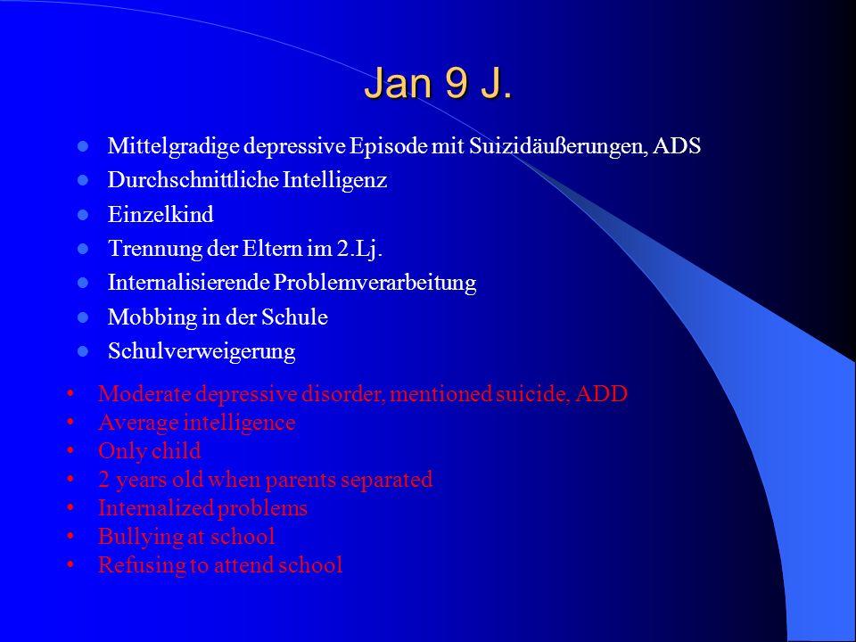Jan 9 J. Mittelgradige depressive Episode mit Suizidäußerungen, ADS
