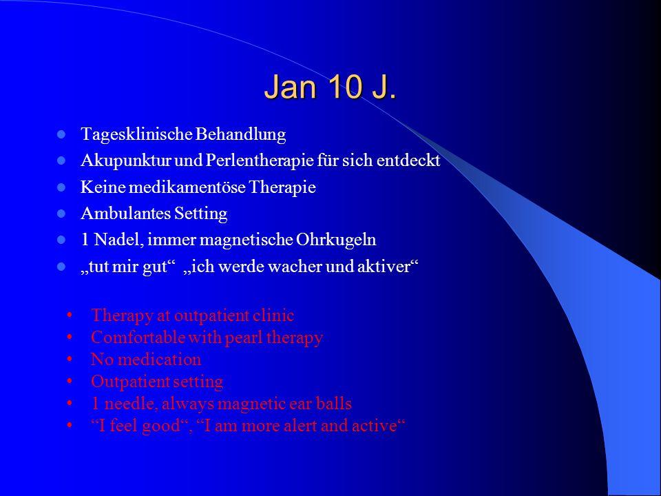 Jan 10 J. Tagesklinische Behandlung