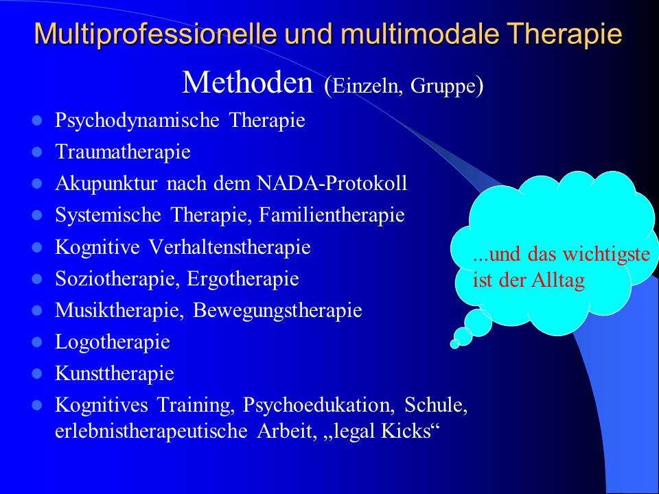 Multiprofessionelle und multimodale Therapie