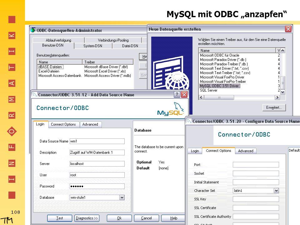 """MySQL mit ODBC """"anzapfen"""