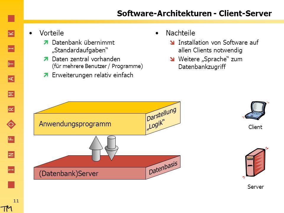 Software-Architekturen - Client-Server