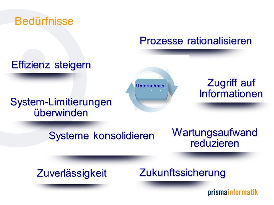 Bedürfnisse Prozesse rationalisieren Effizienz steigern