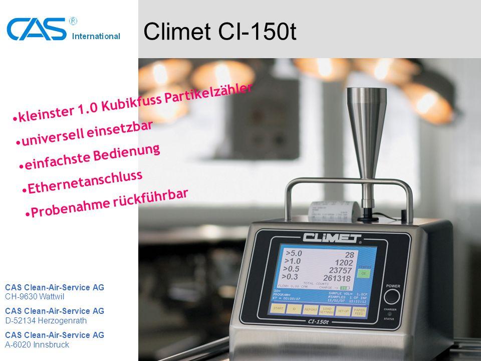 Climet CI-150t kleinster 1.0 Kubikfuss Partikelzähler