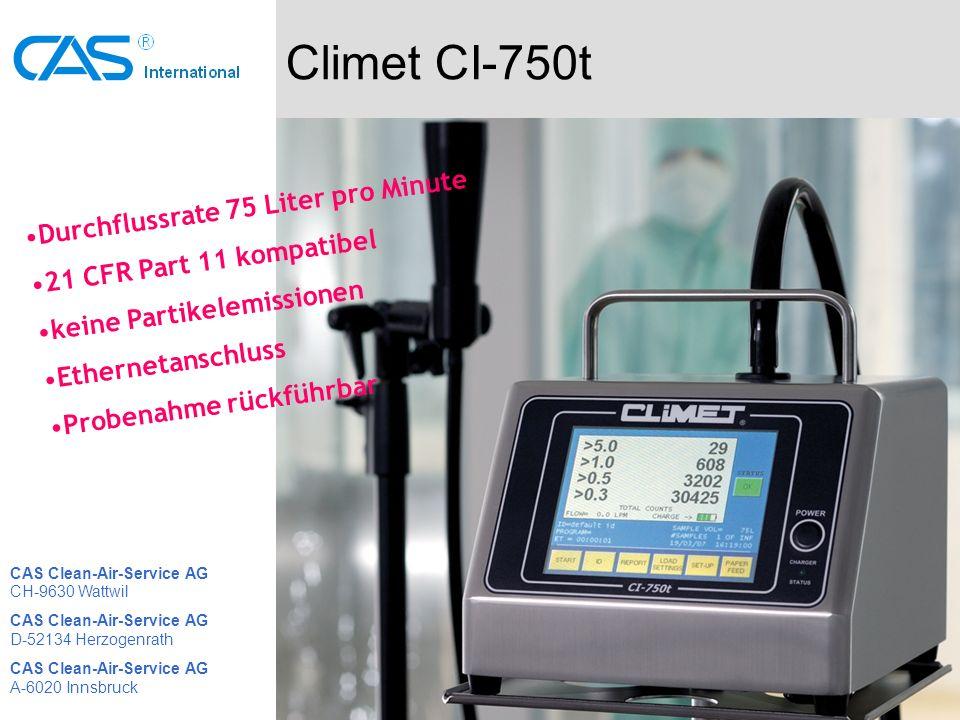 Climet CI-750t Durchflussrate 75 Liter pro Minute