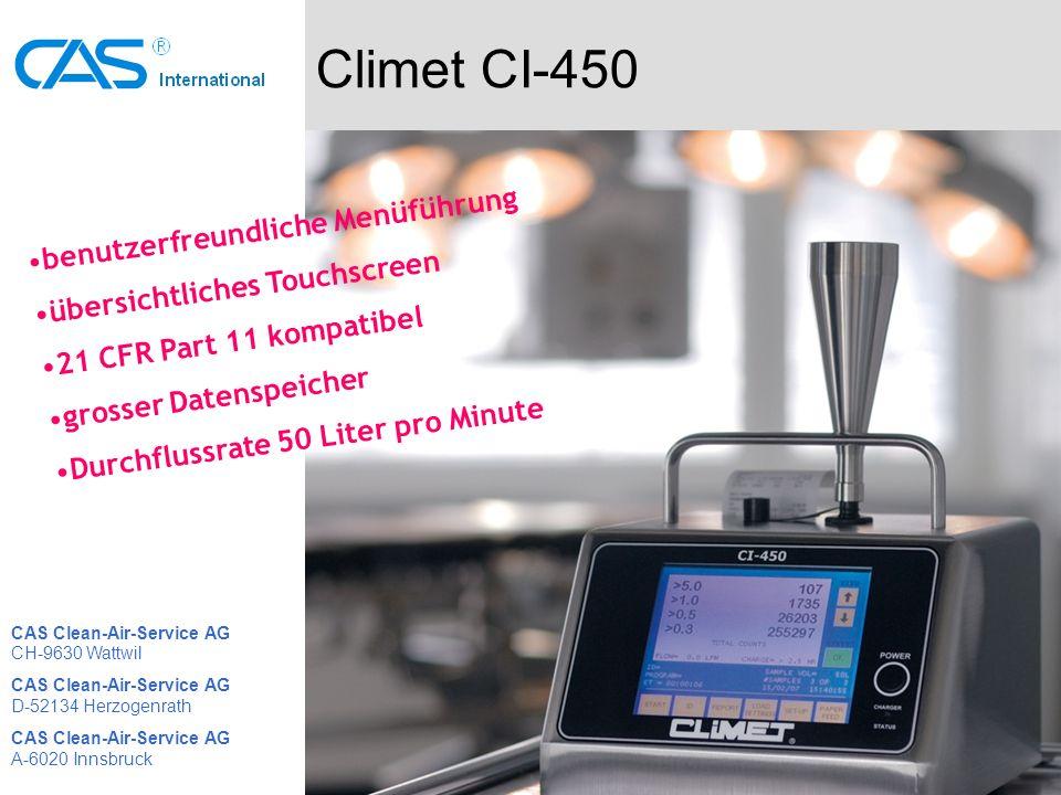 Climet CI-450 benutzerfreundliche Menüführung