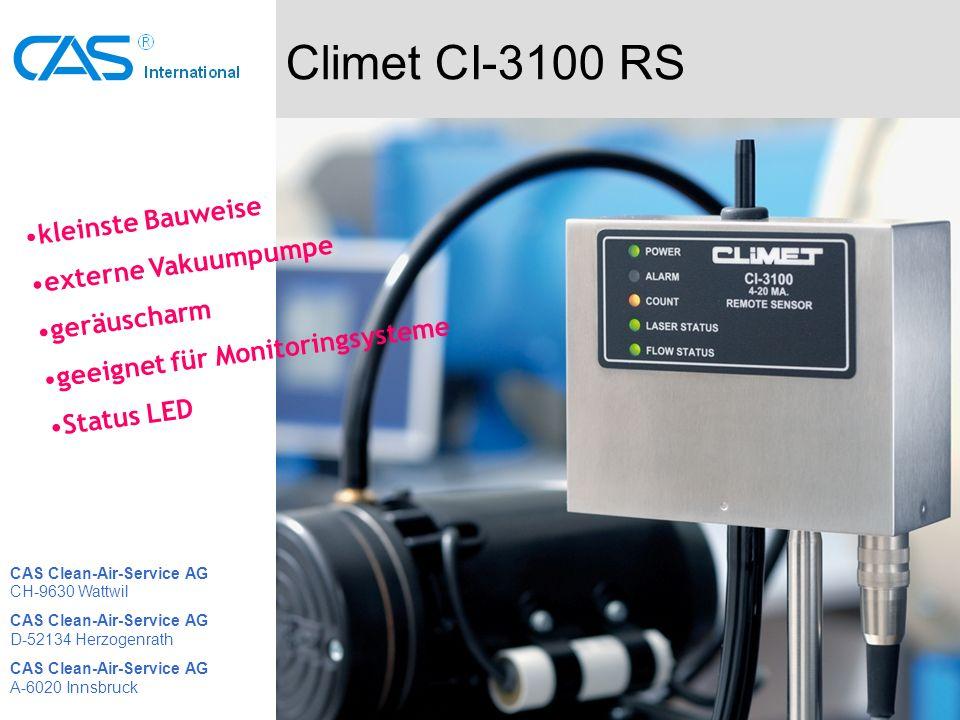 Climet CI-3100 RS kleinste Bauweise externe Vakuumpumpe geräuscharm