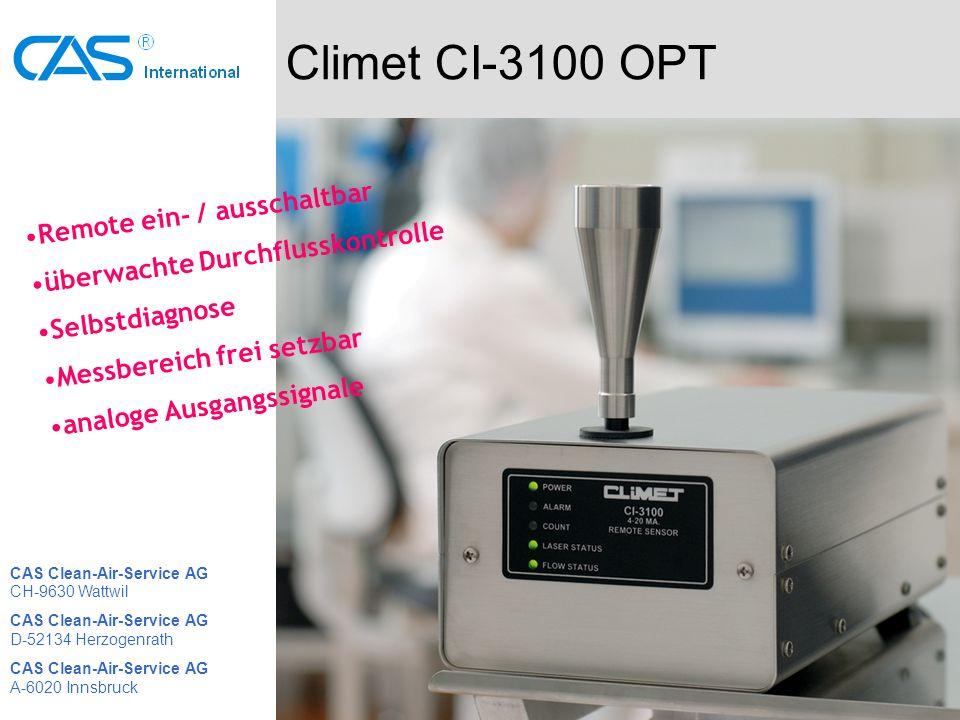 Climet CI-3100 OPT Remote ein- / ausschaltbar