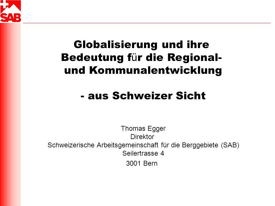 Globalisierung und ihre Bedeutung für die Regional-