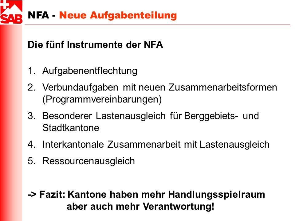 NFA - Neue Aufgabenteilung