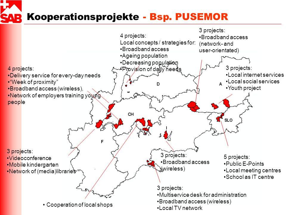 Kooperationsprojekte - Bsp. PUSEMOR