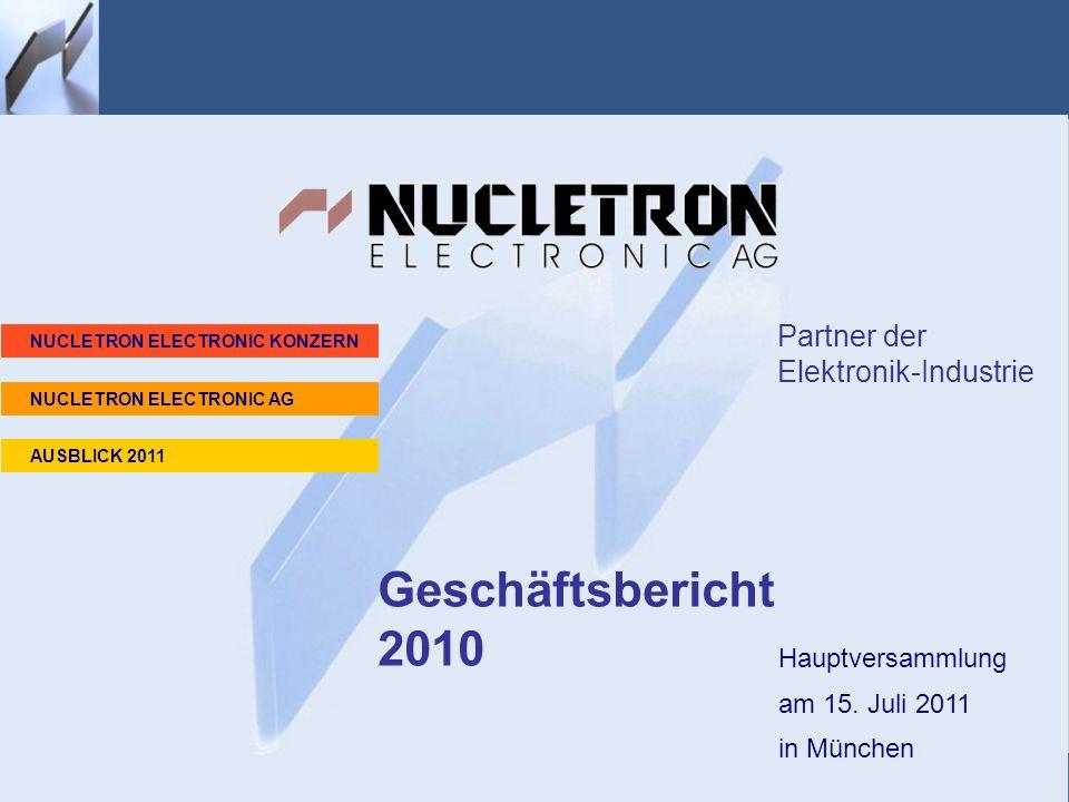 Geschäftsbericht 2010 Geschäftsbericht 2010 Partner der