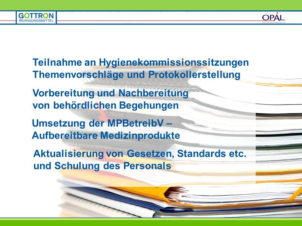 Teilnahme an Hygienekommissionssitzungen