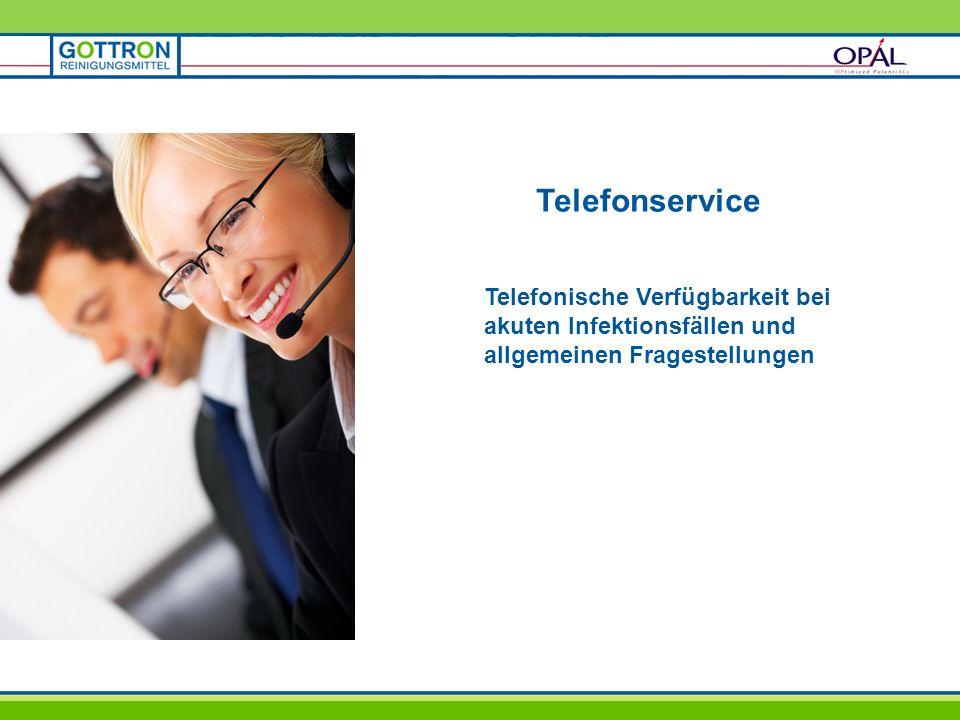 TelefonserviceTelefonische Verfügbarkeit bei akuten Infektionsfällen und allgemeinen Fragestellungen.