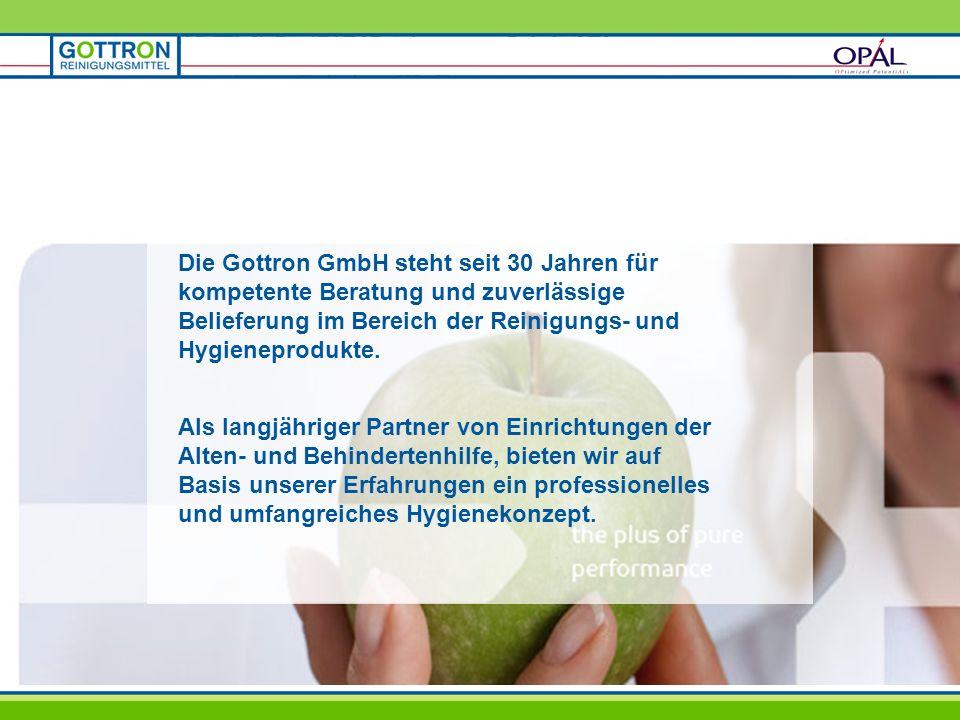 Die Gottron GmbH steht seit 30 Jahren für kompetente Beratung und zuverlässige Belieferung im Bereich der Reinigungs- und Hygieneprodukte.