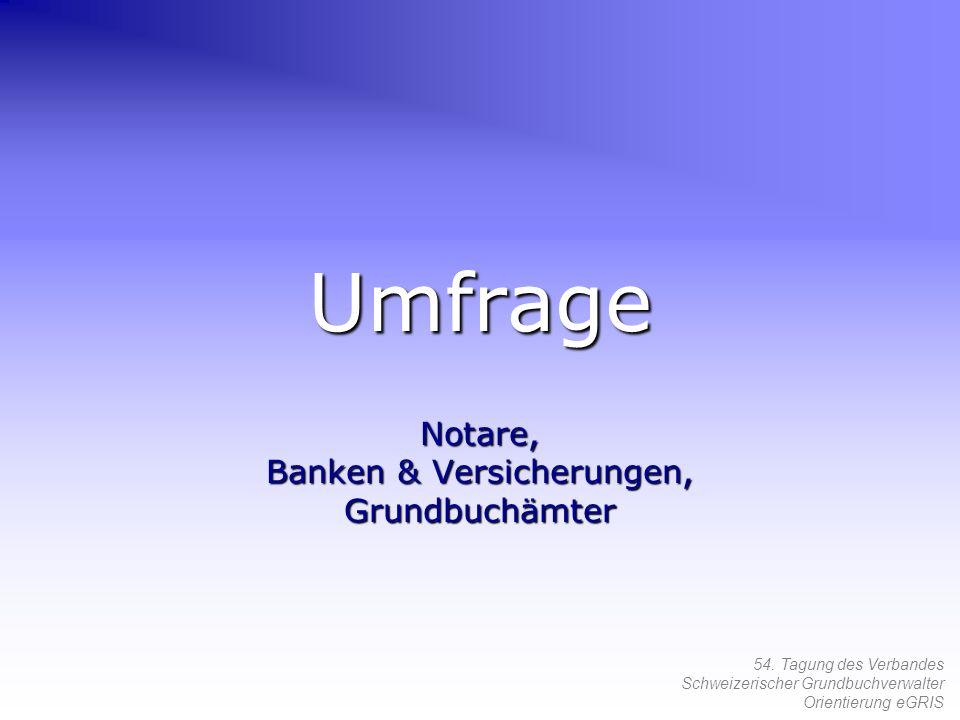 Notare, Banken & Versicherungen, Grundbuchämter