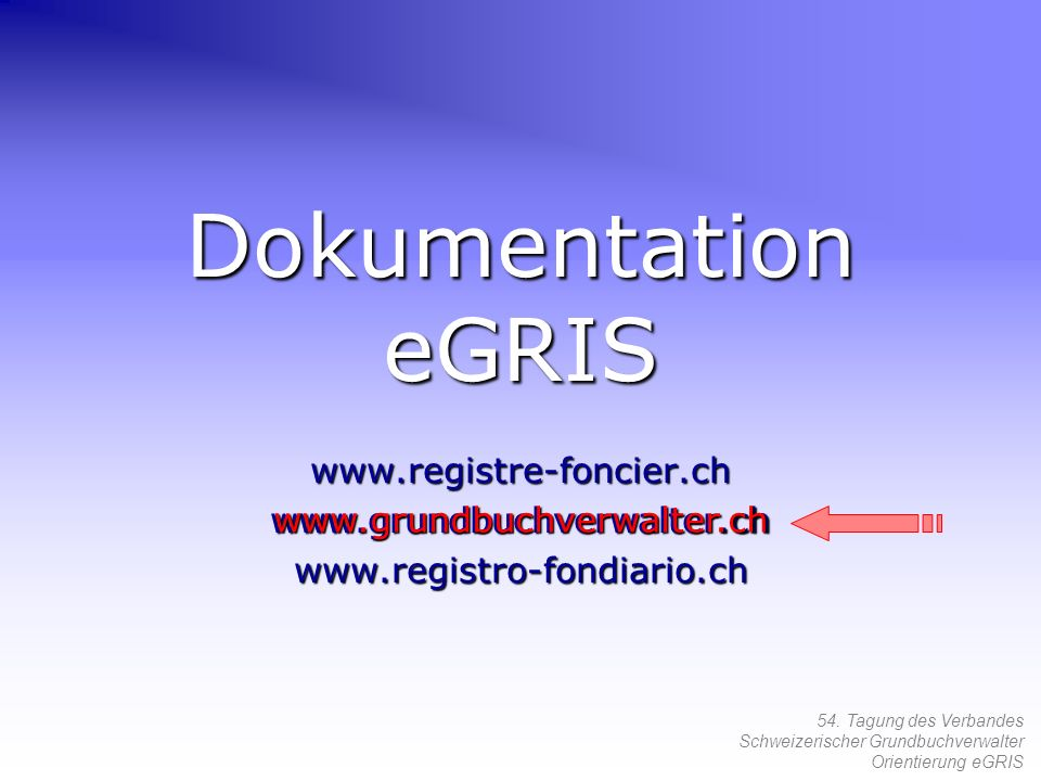 Dokumentation eGRIS