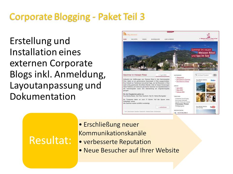 Corporate Blogging - Paket Teil 3