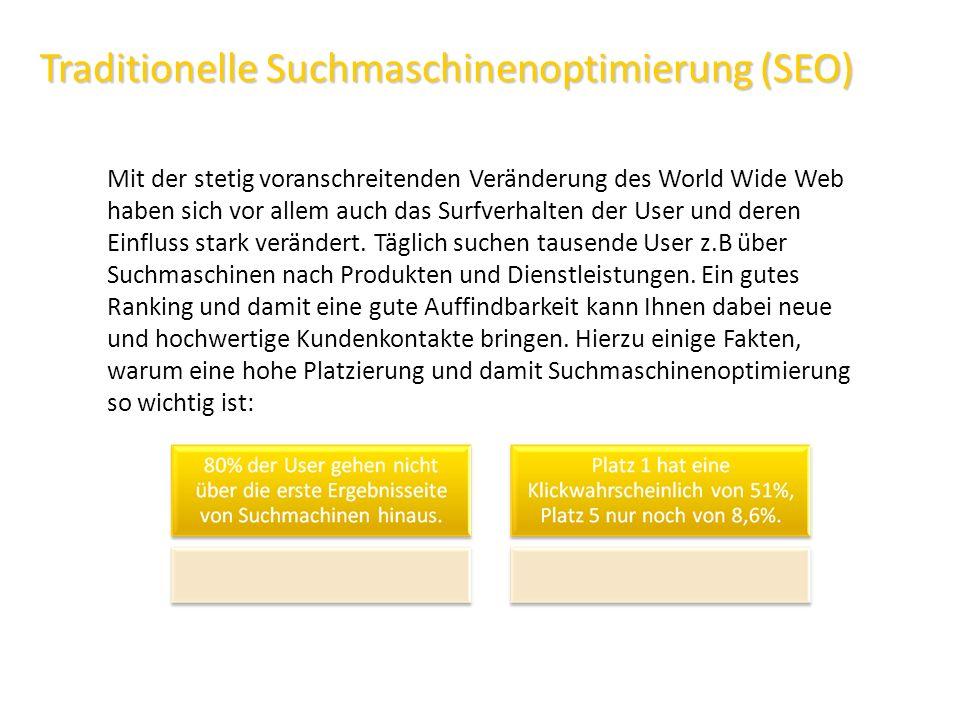 Traditionelle Suchmaschinenoptimierung (SEO)