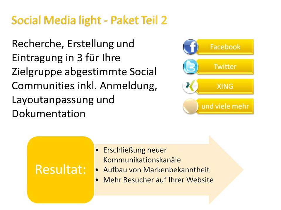 Social Media light - Paket Teil 2