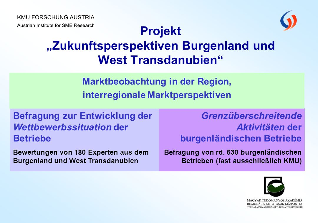 """Projekt """"Zukunftsperspektiven Burgenland und West Transdanubien"""