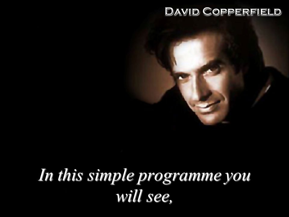 In this simple programme you will see,