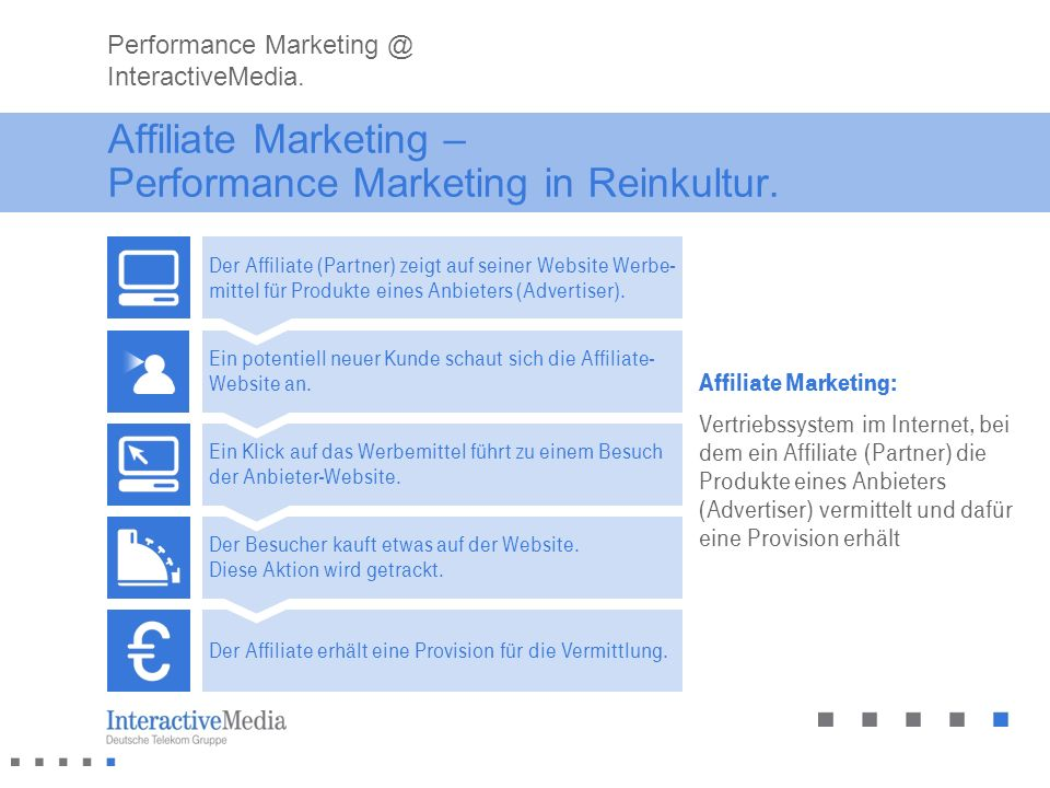 Affiliate Marketing – Performance Marketing in Reinkultur.