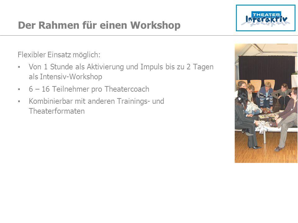Der Rahmen für einen Workshop