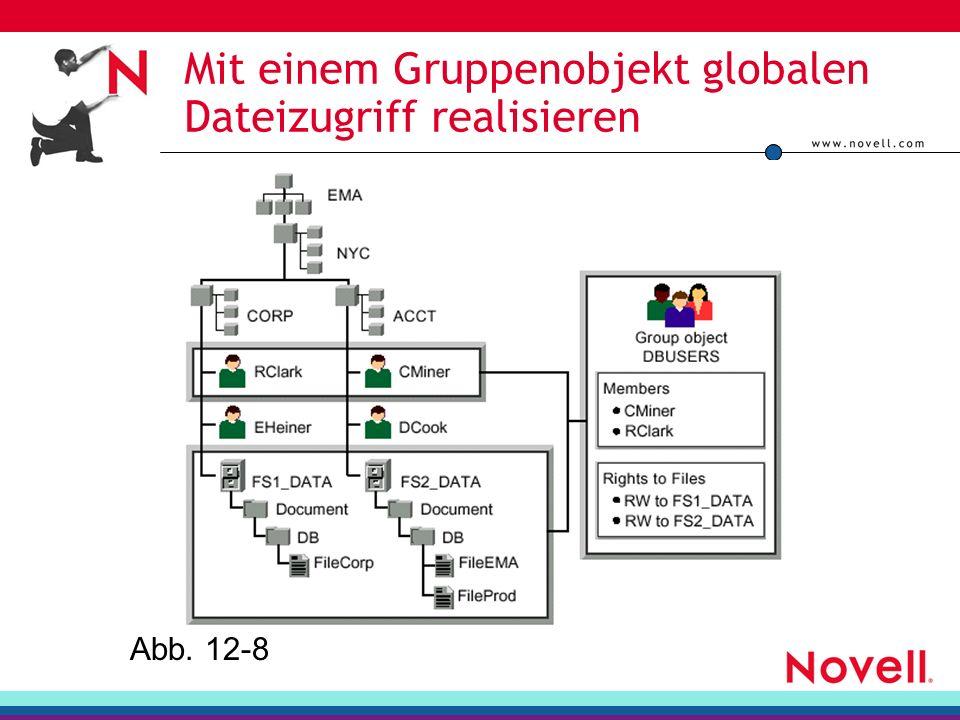 Mit einem Gruppenobjekt globalen Dateizugriff realisieren
