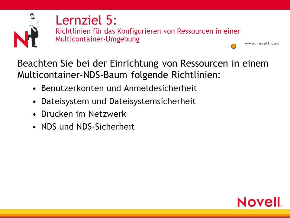 Lernziel 5: Richtlinien für das Konfigurieren von Ressourcen in einer Multicontainer-Umgebung