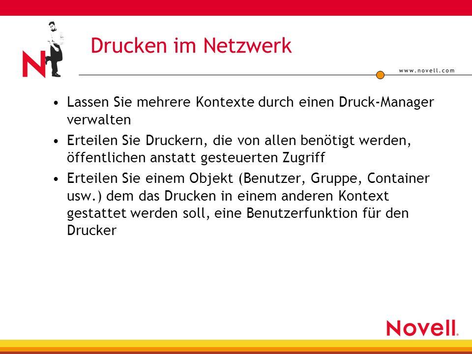 Drucken im Netzwerk Lassen Sie mehrere Kontexte durch einen Druck-Manager verwalten.