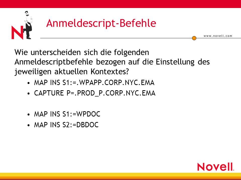 Anmeldescript-Befehle