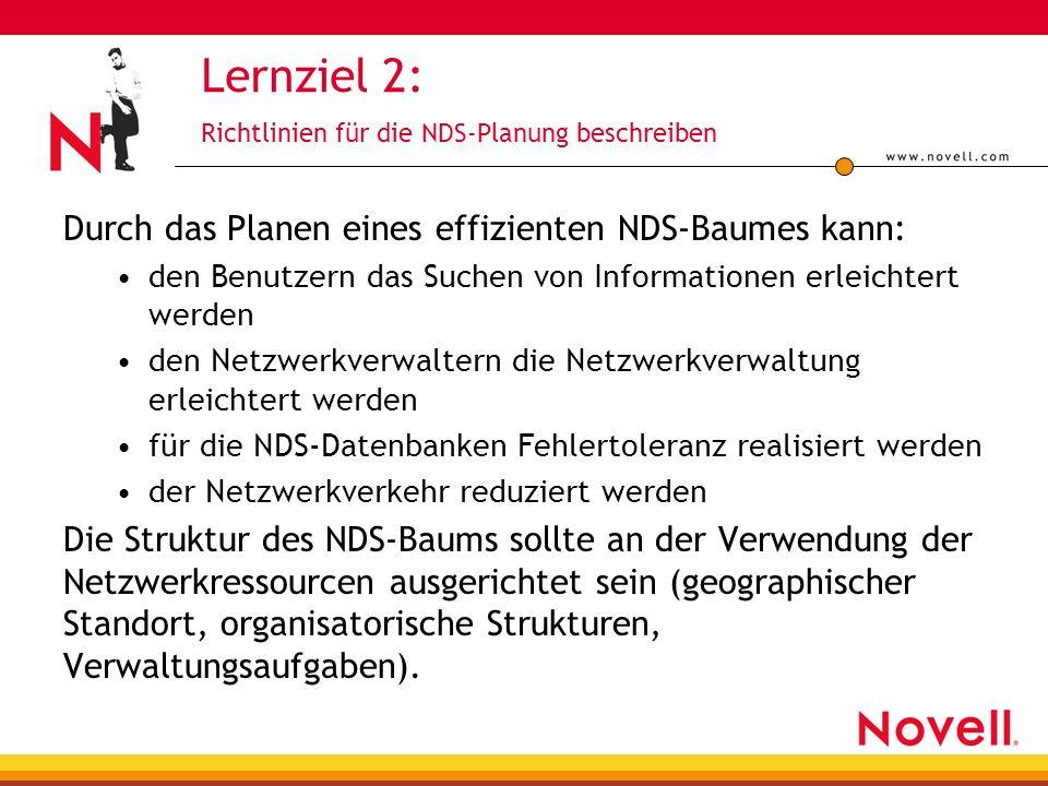 Lernziel 2: Richtlinien für die NDS-Planung beschreiben