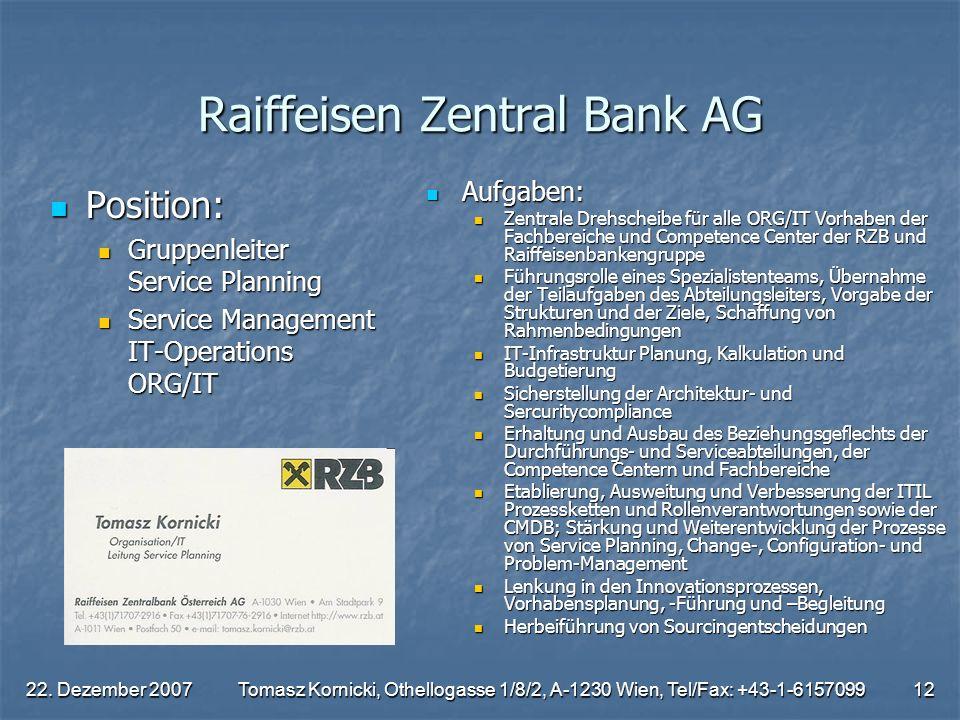 Raiffeisen Zentral Bank AG