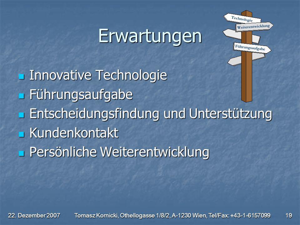 Erwartungen Innovative Technologie Führungsaufgabe