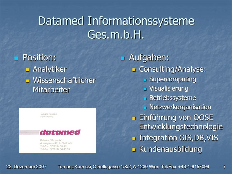 Datamed Informationssysteme Ges.m.b.H.