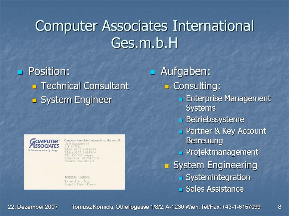 Computer Associates International Ges.m.b.H
