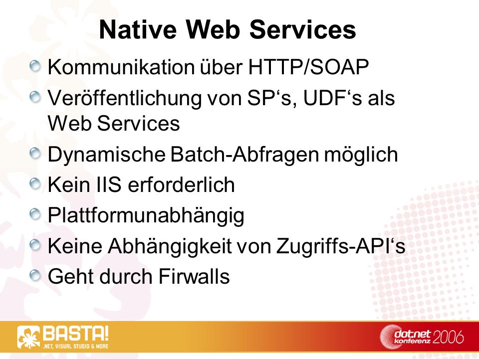 Native Web Services Kommunikation über HTTP/SOAP