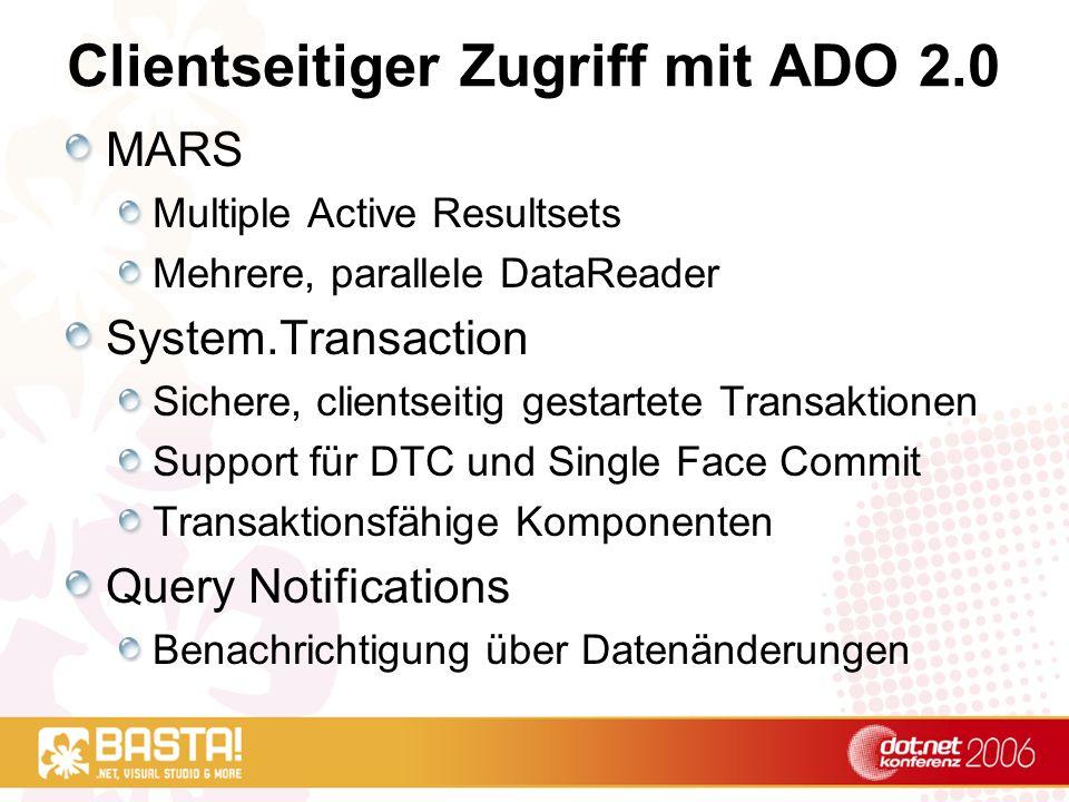 Clientseitiger Zugriff mit ADO 2.0