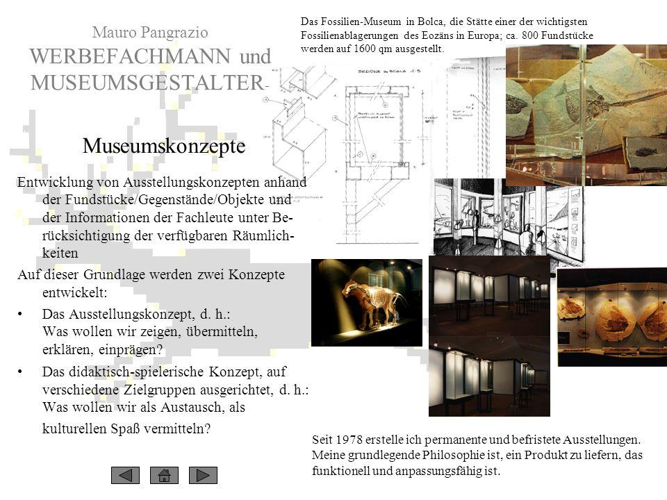 Mauro Pangrazio WERBEFACHMANN und MUSEUMSGESTALTER-