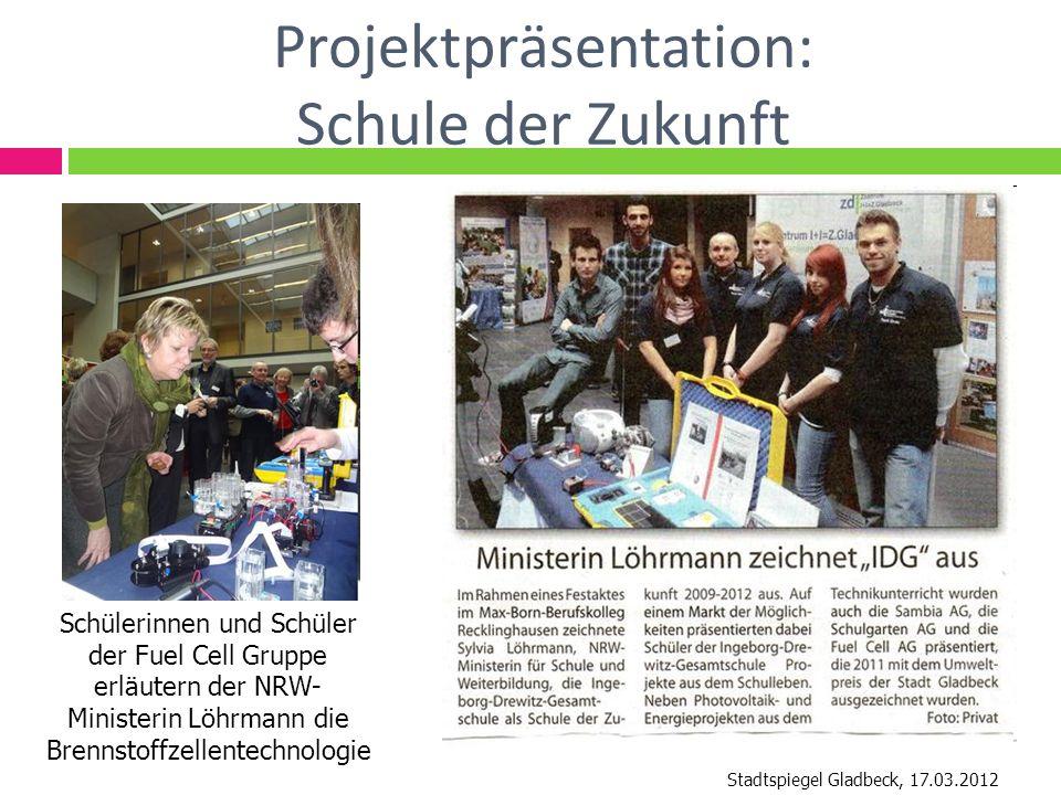 Projektpräsentation: Schule der Zukunft