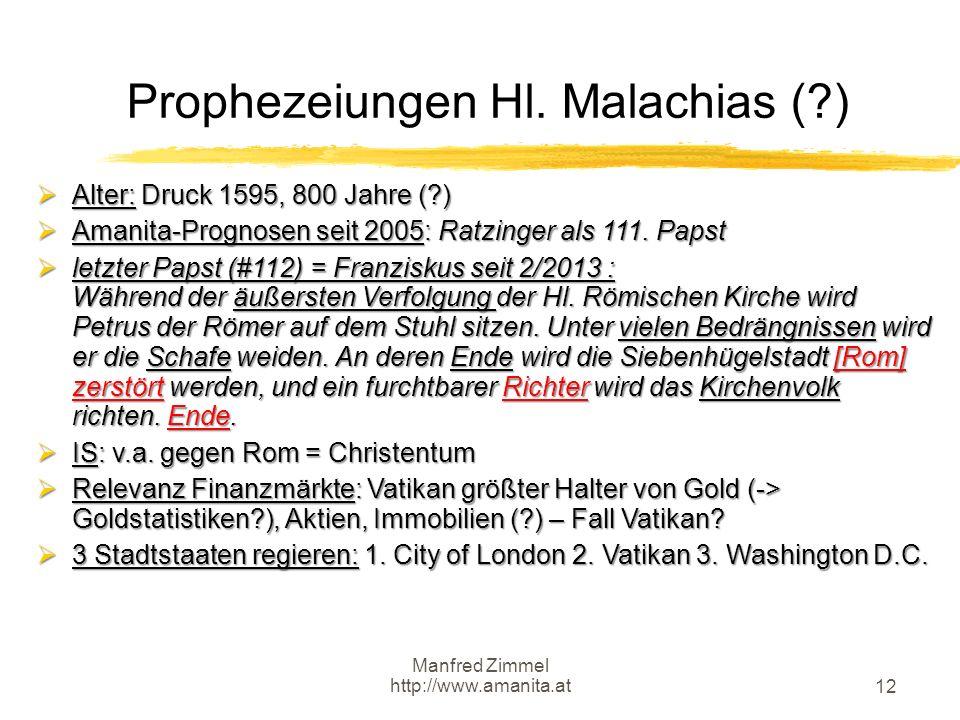 Prophezeiungen Hl. Malachias ( )