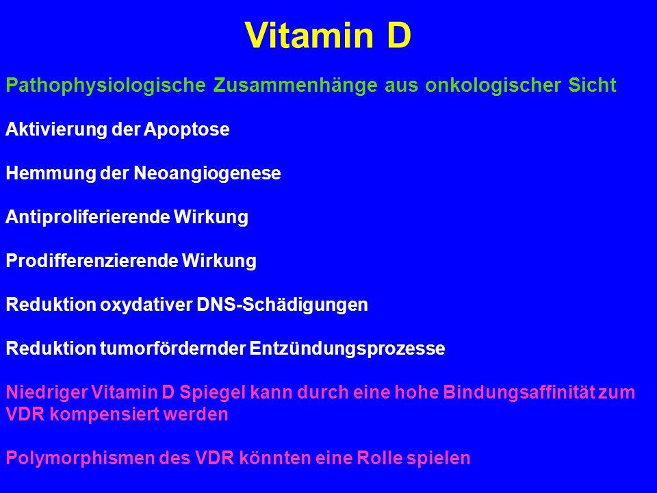 Vitamin D Pathophysiologische Zusammenhänge aus onkologischer Sicht